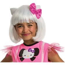 Kitty Halloween Costume Kids Rubies Kitty White Bob Wig Child Halloween Costume Accessory