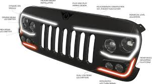 jeep grill logo vector oracle lighting vector series full led grill jeep wrangler jk