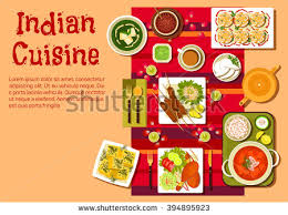 cuisine est indian national cuisine dishes on festive เวกเตอร สต อก 394895923