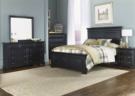 ii panel bed 6 piece bedroom set in black finish by liberty