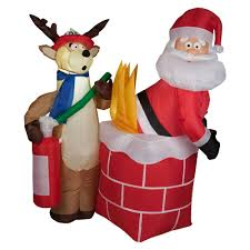 Outdoor Reindeer Christmas Decorations by Amazon Com Gemmy Inflateables Holiday G08 87191 Air Blown Santa