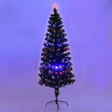 goplus 6ft fiber optic artificial tree w 225 multi color