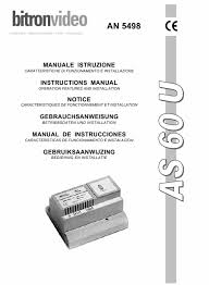 download bitron video an 5498 installation manual english