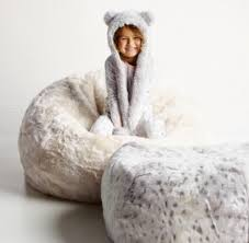 luxe faux fur bean bag arctic fox