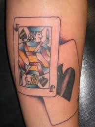 playing card tattoo designs meanings pictures and ideas tatring