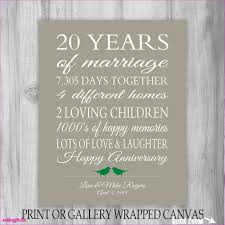 20th anniversary gift ideas for wedding gift awesome 20th wedding anniversary gift ideas for