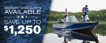 exclusive military family discounts on aluminum fishing boats