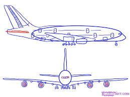 how to draw an airplane step by step airplanes transportation