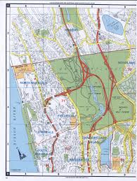 Usa Map New York City by Western Bronx Street Map