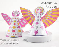 Christmas Angel Table Decorations by Christmas Diy Angels Print Color And Make Paper Craft