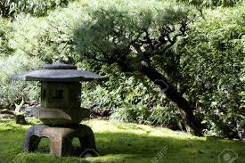 Family Garden Sf Stone Temple In Japanese Traditional Garden In San Francisco Stock