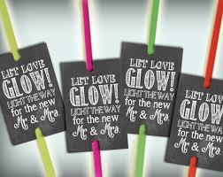 glow stick tags chalkboard printable glow stick send off tags