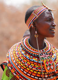 african bead necklace images Local style beads in the ethnic jewelry of africa jpg