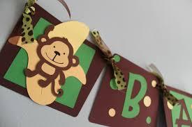 monkey themed baby shower ideas monkey baby shower banner monkey baby boy banner monkey baby