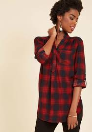 Modcloth Home Decor At Home Editor Plaid Tunic Modcloth
