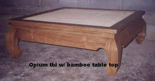 Bamboo Table Top by Opiumcoffeetable With Bamboo Table Top Baliette Home Furnishings