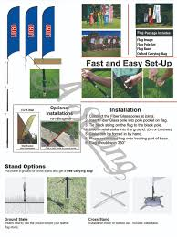 Spin Flag Flying Style And Single Double Sides Image Banner Advertising