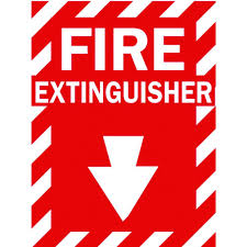 lynch sign 14 in x 10 in fire extinguisher with symbol sign