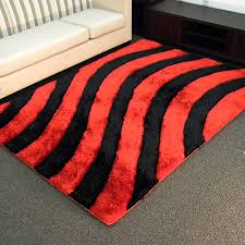 Black And Red Area Rugs by Sculpture Ii