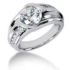 daimond ring platinum mens diamond ring 3 carat solitaire ring