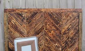 Headboard Made From Pallets Hand Made Wood Chevron King Queen Full Headboard Made From