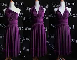 evening wedding bridesmaid dresses purple knee length infinity dress convertible dress