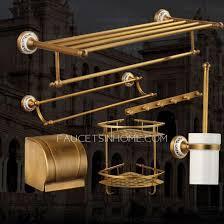 antique brass 6 pieces bathroom accessories