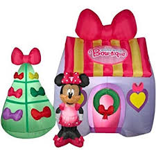 Minnie Mouse Christmas Decorations Amazon Com Disney Minnie Mouse Bow Tique Inflatable 7 U0027 Tall