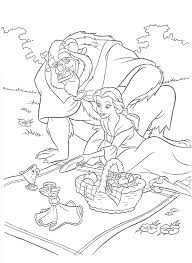 beauty and the beast coloring pages 28546 bestofcoloring com