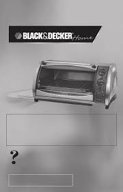 Black And Decker Toaster Oven Black U0026 Decker Oven Toast R Oven User Guide Manualsonline Com