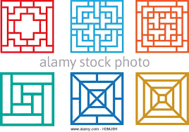 chinese design square chinese window pattern vector stock photos square chinese