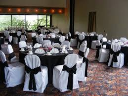 black and white chair covers black table cloth with white chair covers we could alternate