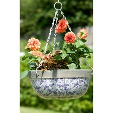 aged ceramic hanging basket by the orchard notonthehighstreet com