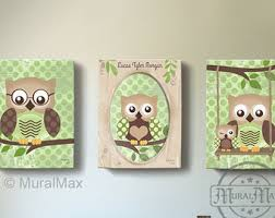 Owl Kids Art Etsy - Canvas paintings for kids rooms
