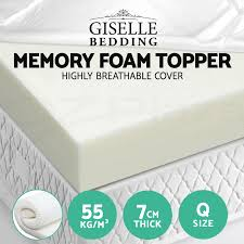 memory foam massage table topper giselle bedding 7cm memory foam mattress topper bamboo underlay