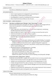 Maintenance Resume Examples by Achievement Resume Samples