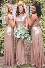 sequin bridesmaid dresses gold bridesmaid dresses new wedding ideas trends