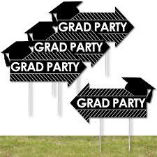 graduation signs 4 grad party arrow signs yard sign outdoor lawn