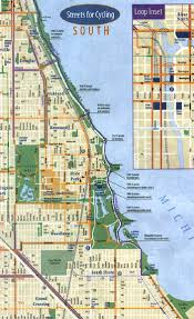 Rush Street Chicago Map by Bike Plans Routes News Map