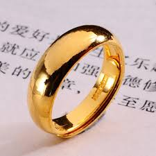 Gold Wedding Rings For Men by Pure Plain Gold Rings 24k Yellow Gold Wedding Bands For Men