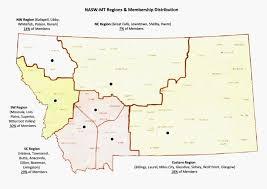 Whitefish Montana Map by Nasw Montana U0027s 5 Regions Nasw Mt