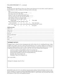Health And Wellness Worksheets For Wellness Points