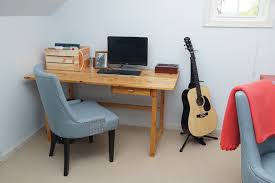 home office makeover in coral and blue heartworkorg com