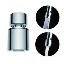 waternymph hibbent dual function 2 flow kitchen sink aerator 360