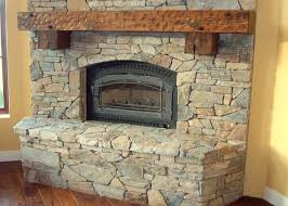 real stone veneer stone stacked tv fireplace blue quartzite