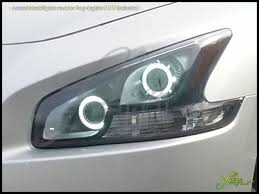 white nissan maxima 2014 09 14 nissan maxima ccfl halo rings headlights bulbs
