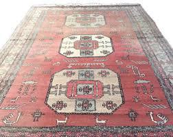 Vintage Tribal Rugs Vintage Persian Rug Runner Pink Wool Hand Knotted Rug Hallway