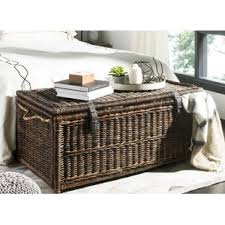 Wicker Trunk Coffee Table Large Wicker Trunk Wayfair