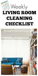 weekly cleaning checklist for living room free printable