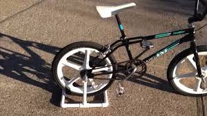 cheap diy pvc bike stand in action youtube